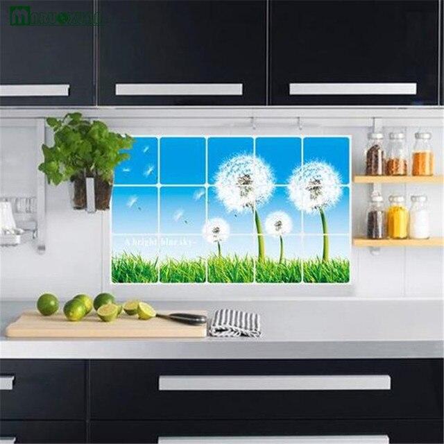 Yunxi 45 75 Cm Dandelion Dapur Pasta Anti Minyak Stiker Tahan Air Pvc Tas