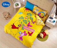 DISNEY winnie the pooh sanding bed covers queen size comforter bedding set twin quilt cover for girls boy teen 3d flat bed sheet