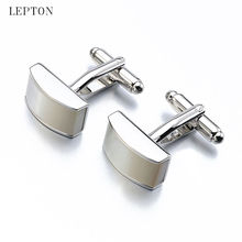 Lepton Jewelry Shell Cufflinks For Mens French Shirt Cuffs Cufflink High Quality Gift Party Gemelos Wedding Shirt Cuff links