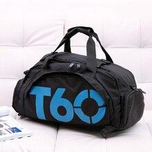 Новый Для мужчин сумка для спортзала Для женщин Фитнес Водонепроницаемый открытый отдельное пространство для обувь сумка скрыть рюкзак и сумка de T60