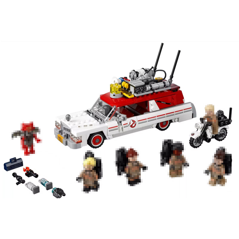 Lepin 16032 586Pcs Movie The Ghostbusters Ecto-1&2 Car Building kits Blocks Bricks fun toys for childrenGifts 75828Gifts