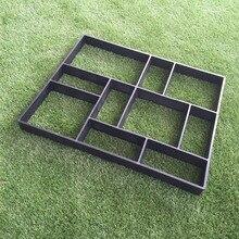 Прямоугольная садовая тротуарная бетонная Пластиковая форма для садовой дорожки DIY каменная модель Лопата D 45*40*4 см