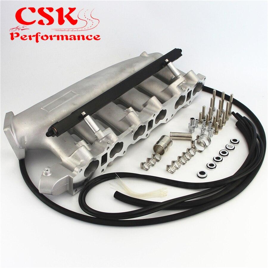 Turbo fundido coletor de admissão plenum + trilho de combustível para nissan skyline r32 r33 rb25 rb25det GTS T azul/preto/roxo Coletor de admissão     -