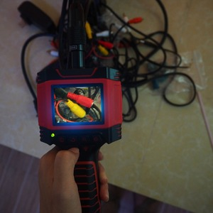 "Image 5 - Dia 8.5mm 1 M 2 M สายวิดีโอ Endoscope Borescope กล้อง 99D2 2.3 ""LCD สีกันน้ำท่อกล้องตรวจสอบหลอด"