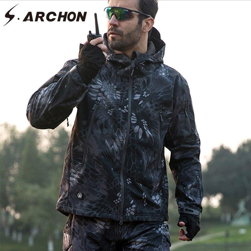S. ARCHON militaire doux Shell polaire veste hommes armée tactique vêtements Multicam imperméable Camouflage coupe-vent 15 couleurs