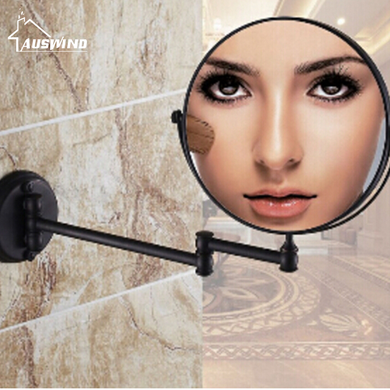 Black Oil Bronze Antique Bathroom Makeup Mirrors 1x4 Magnifier Brass Cosmetic Mirror Bathroom 2-Side Wall Mounted Bath Mirror BA екатерина мурашова полоса отчуждения