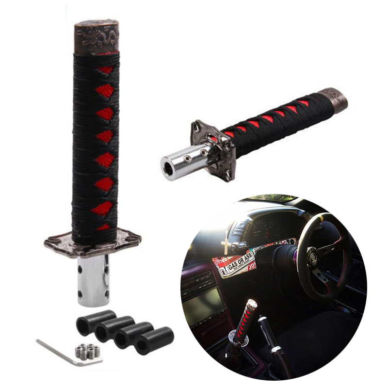 Red Fydun Shift Knob Spring Gear Shifter Stick Shift Knob Lever Universal 5 Speed in Aluminum for Manual Car