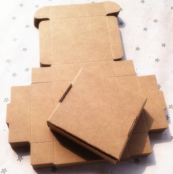 Joy recycled kraft paper gift box paper packing box for jewelry