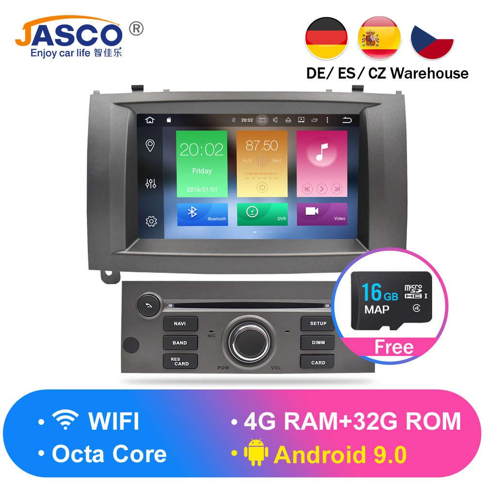 Android 9.0 8.0 9.1 lecteur DVD de voiture GPS Glonass Navigation pour Peugeot 407 2004-2010 4GB RAM 32GB ROM multimédia Radio stéréo