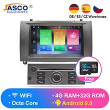 Android 9,0 8,0 9,1 DVD плеер автомобиля GPS навигационная система ГЛОНАСС для peugeot 407 2004-2010 4 Гб оперативная память 32 Встроенная Мультимедиа Радио стереосистемы