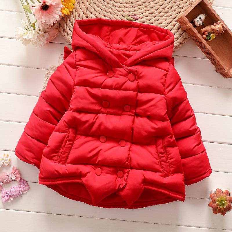 Children Kids Baby Jacket 2016 Autumn and Winter Girl Overcoat Baby Angel Wings Coat Cotton-Padded Clothes