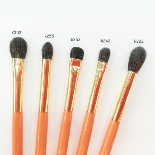 Professional Makeup Brushes Blue Squirrel Goat Hair Eye Shadow Blending Brush Orange Handle pincel maquiagem Make Up Brush 1