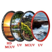 KnightX HD UV MCUV 49 52 55 58 62 67 72 77 MM Camera Lens Filter For canon nikon photo 1200d 200d 700d d3300 light 500d color zomei pro ultra slim mcuv 16 layer multi coated optical glass uv filter for canon nikon hoya sony lens dslr camera accessories