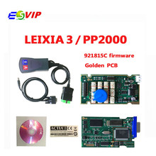 Best quality Board  921815C Firmware Golden PCB Lexia PP2000 V48/V25 Lexia-3 Diagnostic Tool for free shipping