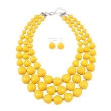 layered bead jewelry sets statement necklace and earrings set parure bijoux femme wedding jewelry