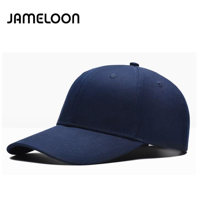 8ee72efd684c0  JAMELOON New summer baseball cap plain 6 panels curved brim hat for men  women casual casquette gorras