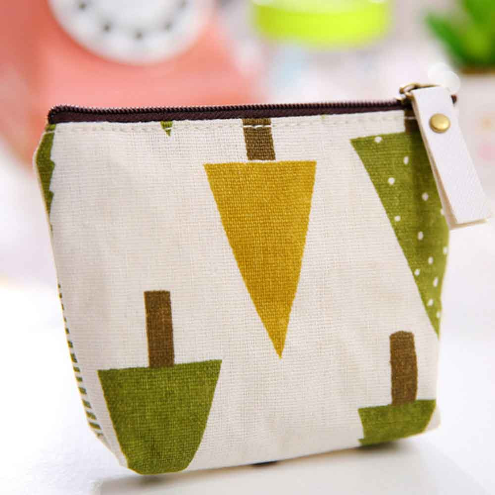 Women Handbag Cheap Hot Sale Zipper Money Coin Purse Wallet Case Cute Printed Portable Key Coin Purse Canvas Fashion Makeup Bag