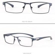 Business Tr90 Leg Full-rim Titanium Alloy Frame Custom Made Prescription Glasses Photochromic Grey/ Brown Myopia Near-sighted