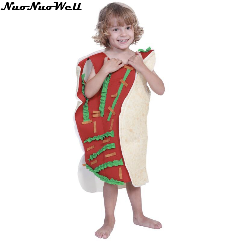 Children Unisex Funny 3D Print Sausage Food Hot Dog Costumes Cartoon Halloween costume for adult Festival Fancy Dress