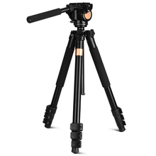 QZSD-Q640 professional tripod stable multifunctional with 360 degree panorama damping panhead for gravity hook