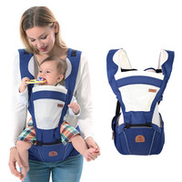 Multicolor Breathable Baby Back Stool Backpacks Wrap Carrier Newborn Infant Kid Baby Hipseat Cloth Slings 3 36 Months