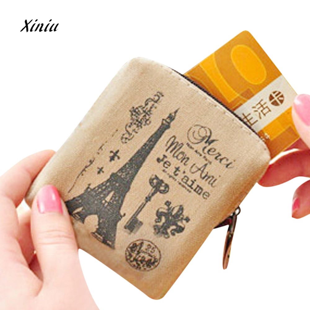 Classic Retro Printed Linen Coin Purses Women Girls Wallet Credit Card Holder Key Coin Bag Ladies Small Wallet Purse Pouch Case thinkthendo ladies kids men women small coin purse credit card key ring wallet pouch purse case new 2 zipper leather mini bags