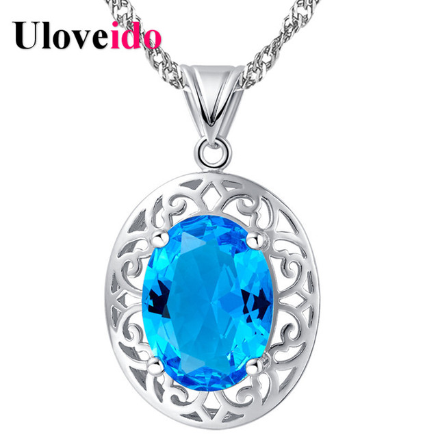 Women's Necklaces & Pendants Collares Blue Red Best Friends Choker Necklace Vintage Pingente Womens Jewellery Uloveido N1021