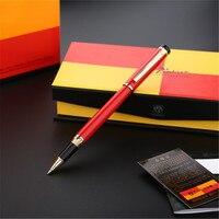 1pc/lot Picasso Red Pens 908 Roller Ball Pen Pimio Picasso Gold Clip Canetas Pen School Supplies 0.5mm 13.9*1.3cm