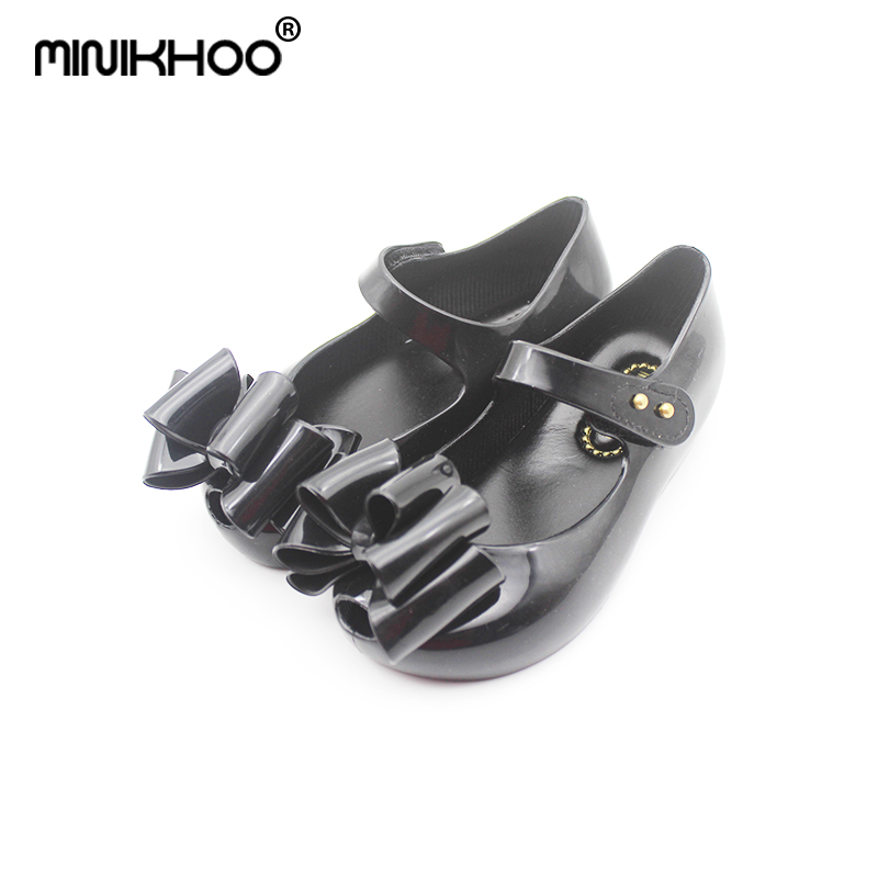 Mini Melissa 2018 New Original 3 Bows Sandals For Shoes Children Sandals Waterproof Breathable Melissa Baby Sandals High Quality