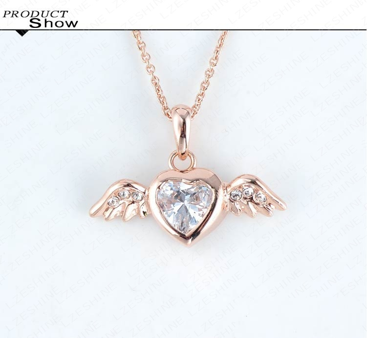 Beagloer new angel heart wings necklace rose gold color pendant beagloer new angel heart wings necklace rose gold color pendant neckalce inlay austrian crystal nl0262 a in pendant necklaces from jewelry accessories on mozeypictures Choice Image