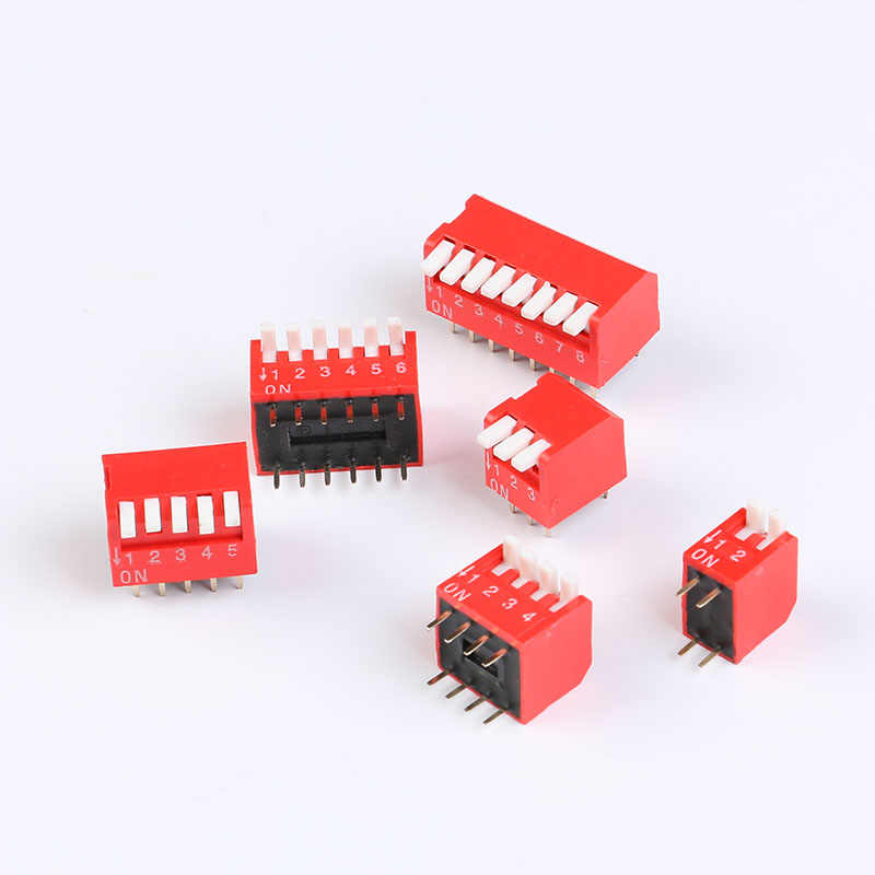 5 PCS Slide Type Switch Module 2.54mm 8-Bit 8 Position Way DIP Red Pitch