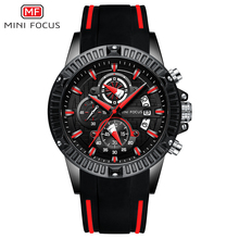 MINI FOCUS 2019 Nieuwe heren Sport Quartz Horloges Siliconen Band Leger Chronograaf Stopwatch voor Man Relogios Masculilno 0244G0. 4