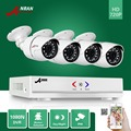 ANRAN 4CH AHD DVR 4 unids 1800TVL 1800N 720 P 24 IR Al Aire Libre Impermeable de Vídeo de Seguridad CCTV Cámara de Vigilancia Inicio sistema