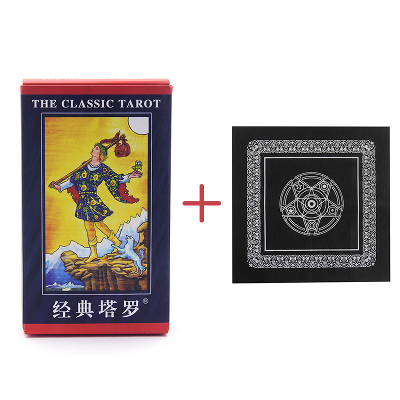 Board Game Full English Radiant Rider Wait Tarot Cards Factory Made with Colorful Box Cards Game for Home Party Oracle Cards