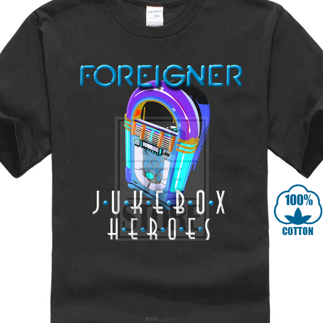 c0c1c11b6b227 US $7.03 12% OFF|New Foreigner Jukebox Heroes 80S Rock Band Black Men'S T  Shirt Size S 4Xl-in T-Shirts from Men's Clothing on Aliexpress.com |  Alibaba ...