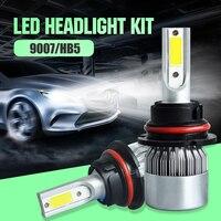 EURS 2Pcs 9005 HB3 9006 HB4 H11 H4 H7 H1 Led 9007 Car Headlight C6 72W