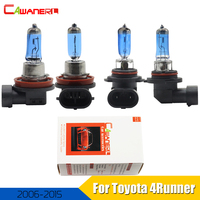 Cawanerl 4 Pieces 100W Car Headlight High Low Beam Halogen Bulb 12V Accessories For Toyota 4Runner