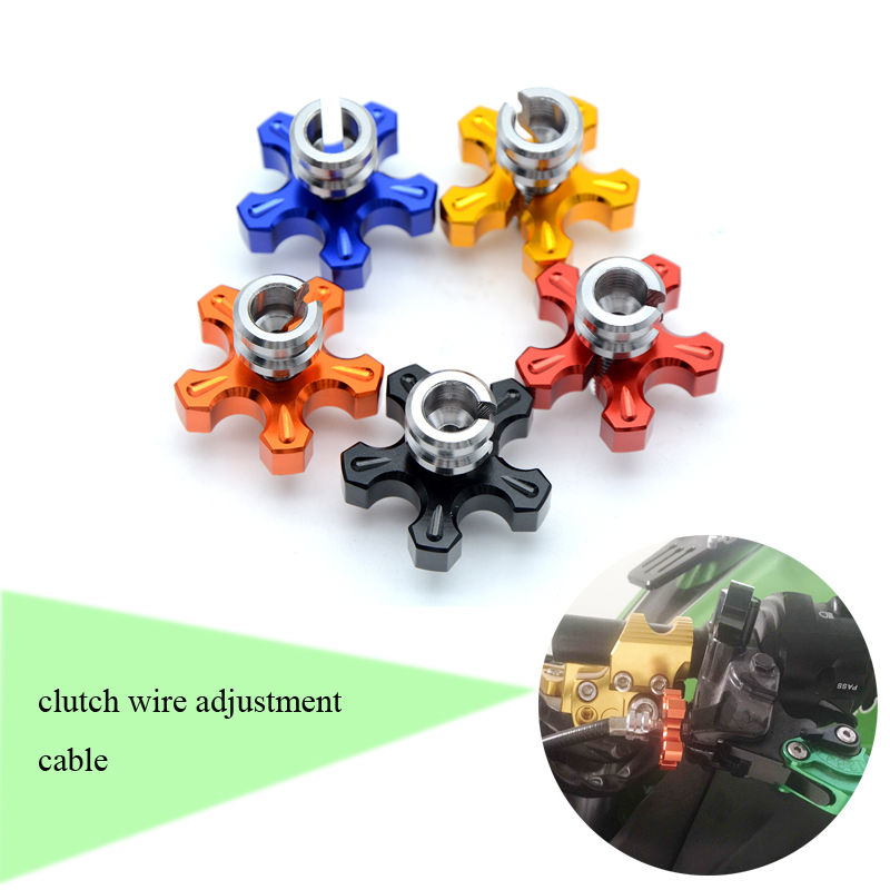 M8*1.25 Universal Motorcycle CNC Aluminum Clutch Cable Wire Adjuster For KTM 990 Super Duke 1190 RC8 kawasaki honda universal motorcycle m8 1 25 cnc aluminum clutch cable wire adjuster for ktm 350 400xcf w honda kawasaki ninja 300 abs er 6f