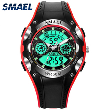 Fashion Liquid Crystal Type 2017 SMAEL Wristwatches With LED Multifunction Brand Cheap New Sports Man's Outdoors Watches WS1306L