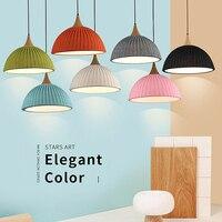 Pendant light LED lights E27 Bulb Single Lamp Modern Half Ball Design Romatic Wool Dining room Bar Coffee Shop Different C