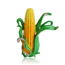 Corn On The Cob Stalk Brooch