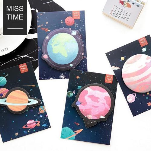1PC/lot Star planet series sticky note Message pad Post it planner memos Stationery Office zakka School supplies(tt-2715)