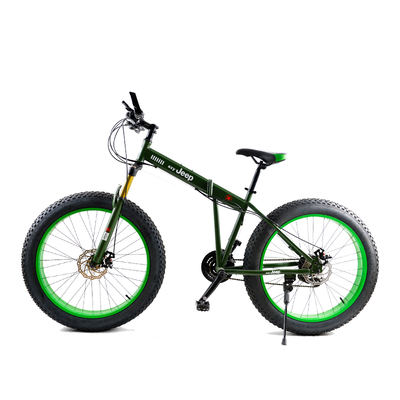 Snow Bicycle Variable 21 Speed Road Beach Bike Folding Bike 4 0 Super Wide Tires Mountain