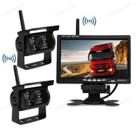 wireless 7 Inch TFT LCD Car Parking Monitor With 2x 18 LED Night Vision Rear View reversing Camera For Truck Trailer Bus