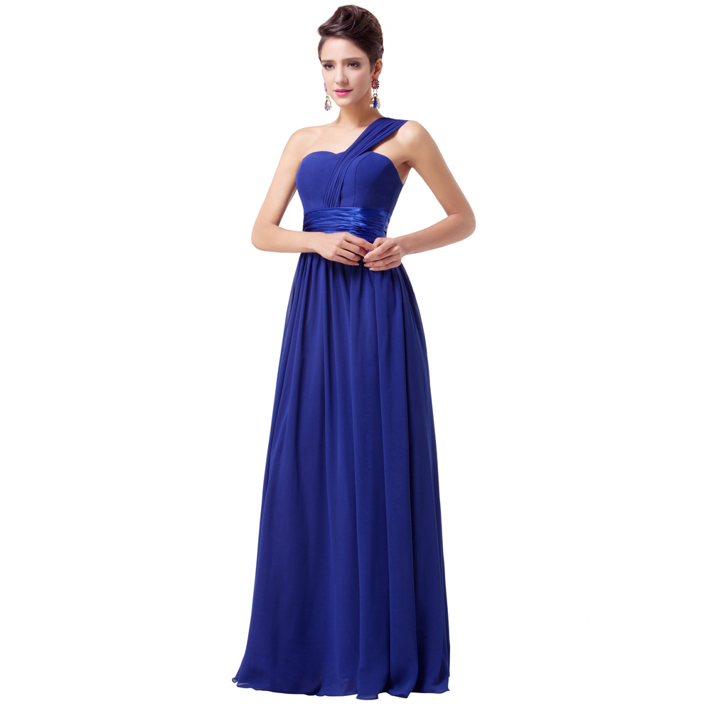Dress medical picture more detailed picture about chic cheap chic cheap long royal blue bridesmaid dresses under 50 one shoulder wedding party dress for women ombrellifo Image collections