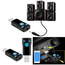1 ШТ. USB Bluetooth Беспроводной Аудио Aux Музыка Адаптер Приемника Для Наушников Портативные Динамики И Стерео