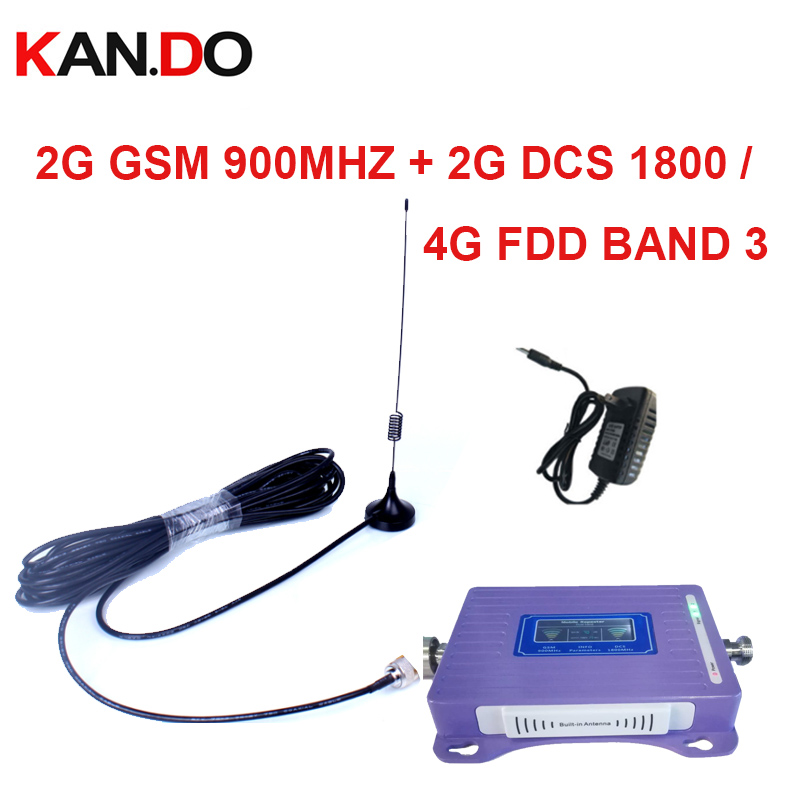 Built-in Antenna 2G+4G Repeater With Cable Antenna LCD Display Dual Bands GSM 4g Booster Repeater GSM 900 1800mhz 4g LTE Booster