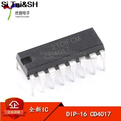 10PCS CD4017BE DIP16 CD4017 DIP CD4017B DIP-16 New and Original IC