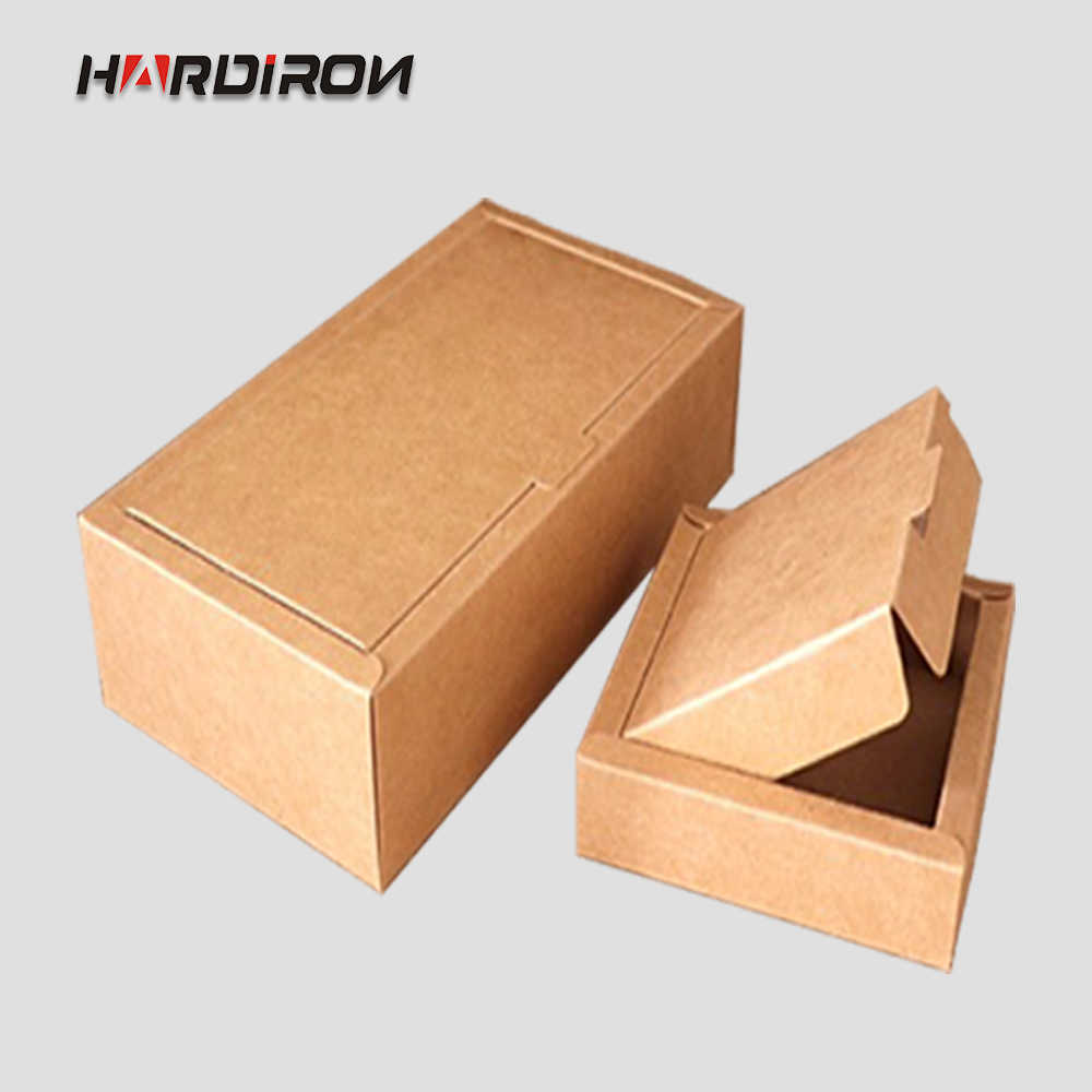 HARDIRON Brown Folding Carton Craft Gift Handmade Soap Packaging Box Four Sizes  Kraft Paper Box