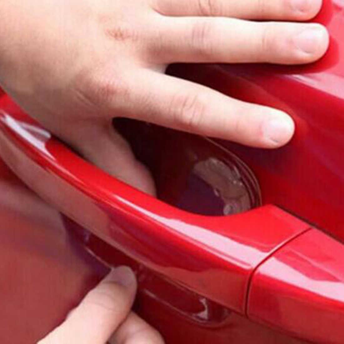 Bu-bauty 8 unids/set protección de manija de coche película Exterior de coche transparente pegatina accesorios Automotrices